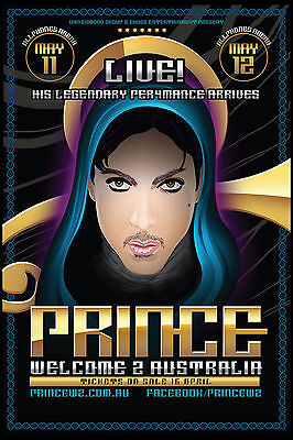 AWESOME: Prince  Australian Concert Tour Poster