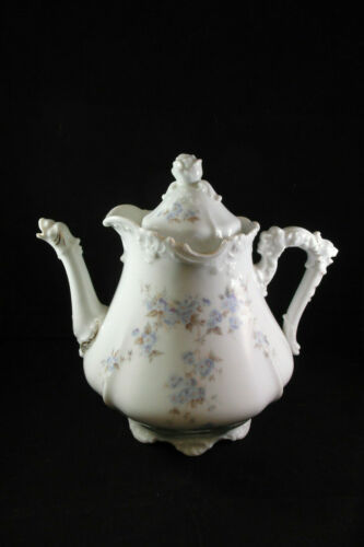 Hermann Ohme Antique EGLANTINE style Germany Porcelain Dragon Teapot 1920s Rare