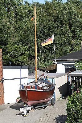 Winterangebot Teakholz Motorsegler / Segelboot plus Hafentrailer 7500 online kaufen