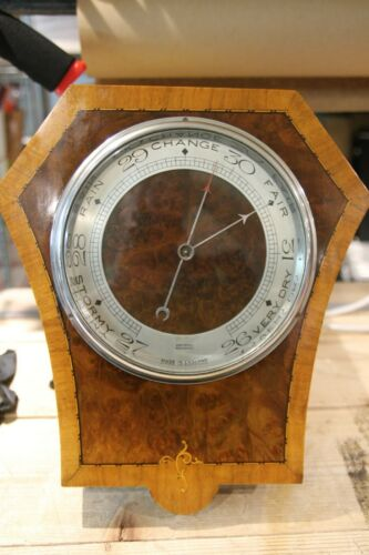 VINTAGE ARMSTRONGS MANCHESTER BAROMETER IN BEAUTIFUL WALNUT TIGER EYE