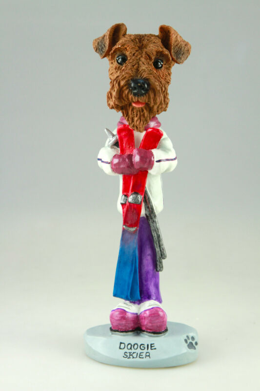 SKIER AIREDALE TERRIER-SEE INTERCHANGEABLE BREEDS & BODIES @ EBAY STORE