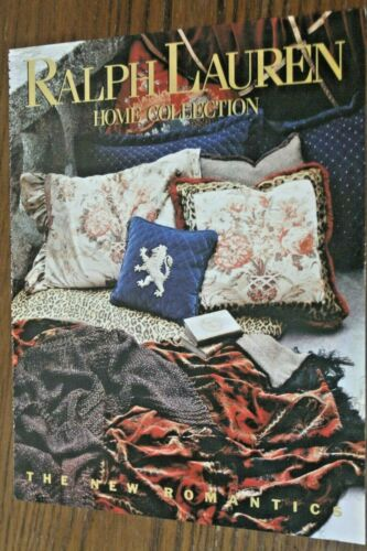 Ralph Lauren Home Collection decor Magazine Print Ad 1995 3pg Original Vintage