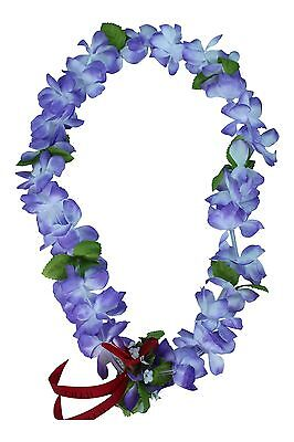 Hawaiian Lei Party Luau Floral Princess Plumeria Silk Dance Flower Light Purple (Princess Lei)
