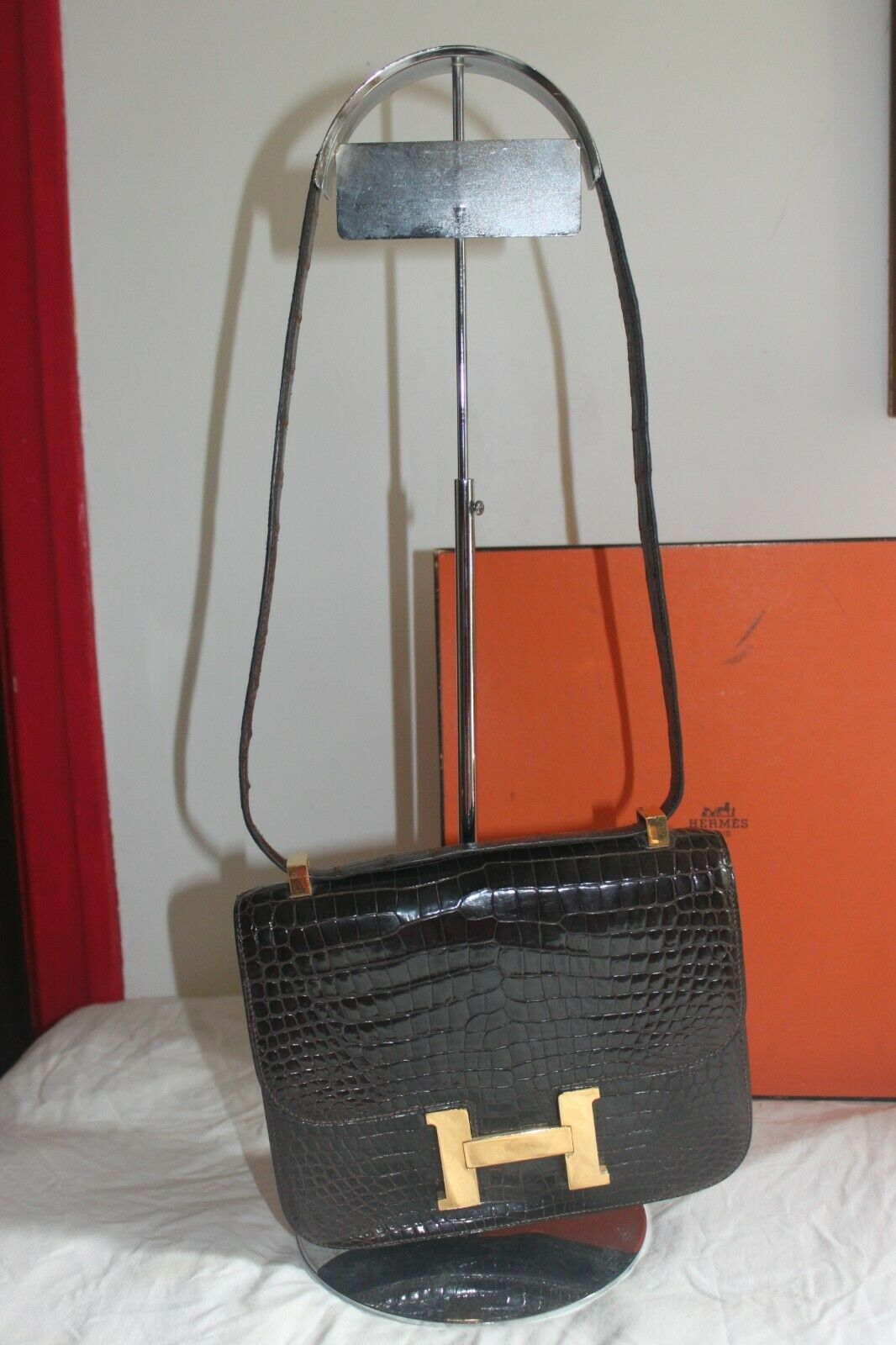 Sac hermes constance alligator
