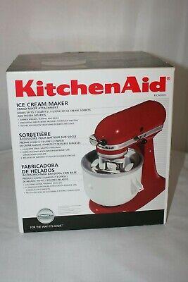 Kitchenaid Ice Cream Maker Stand Mixer Attachment Model KICA0WH ~ NIB New