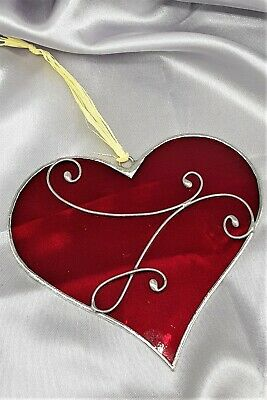 handmade bespoke stained glass heart