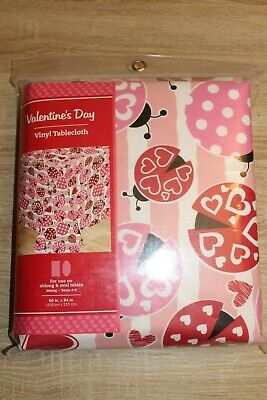 NEW Valentine's Day Vinyl Tablecloth 60