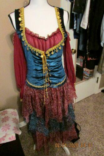 Ladies Gypsy Halloween Costume - Size Large