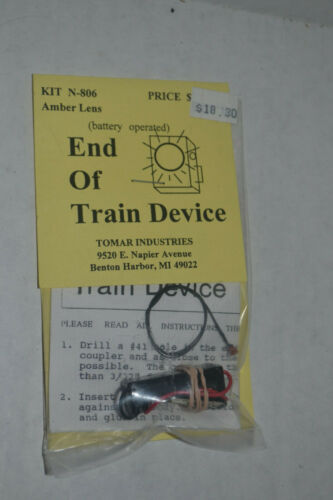 Tomar N Scale EOT End Of Train Device Battery Operated N-806 Amber Lense