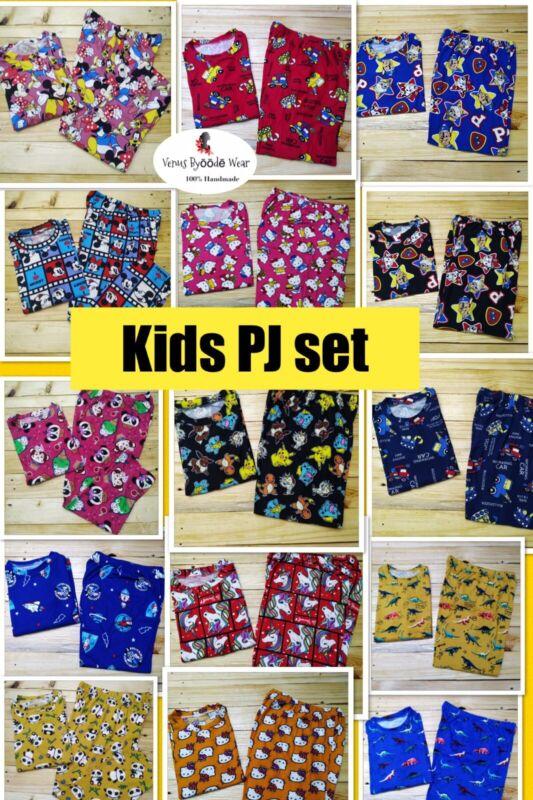 Kids Pajama set In Beautiful Patterns  2 Pack For $35 FREE SHIPPING