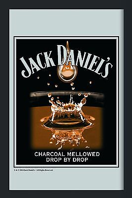 Barspiegel Jack Daniels Tropfen, 20 x 30 cm Retro, Nostalgie, Werbung