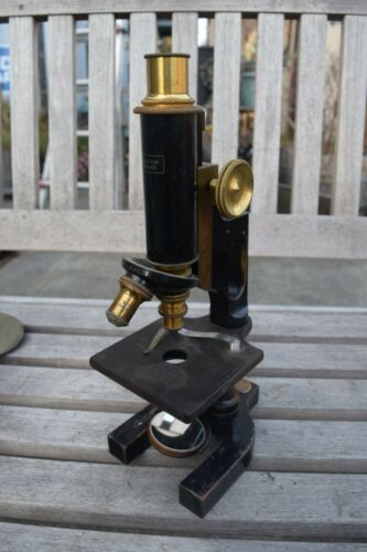 Bausch & Lomb B&L Vintage Microscope 1910 Brass/cast Iron  Univ of California