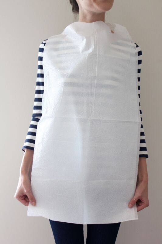 CASE OF 300 DISPOSABLE GERIATRIC ADULT BIBS FREE SHIPPING