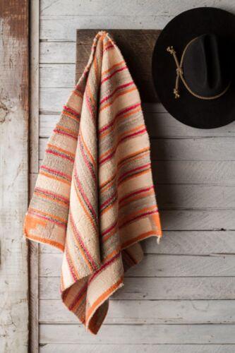 Vintage Navajo Banded Saddle Blanket / Rug / Weaving Colorful Aniline Dye