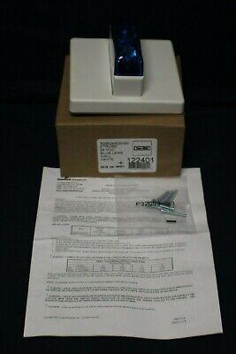 Wheelock Rssb-24mcw-nw White Ceiling Mount Fire Alarm Signal Strobe Blue Lens H2
