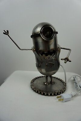 Harley Davidson Minions inspired handmade One of a kind Lamp.