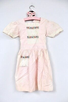 VTG 1940's Big Girls School Dress  NOS Pink Faded Best For Costume Sz 7 Sample