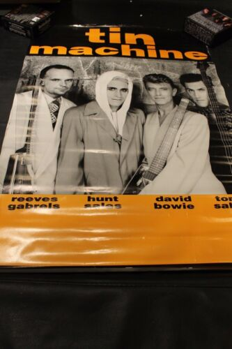 "Tin Machine David Bowie On Tour Poster 24"" x 33"" VG EW  Box 9 #66"
