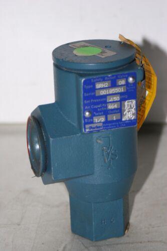 """Parker Hannifin SRH2 Safety Relief Valve 150 PSI 1/2"""" Inlet 1"""" Outlet 464 Scfm"""
