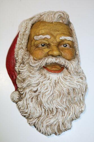 """Vintage Santa Face Wall Hanging Resin 11"""""""