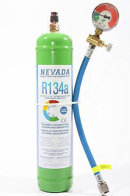 DIY-KIT 900g R134a inkl. Manometer für Diagnose + Befüllung von Kühlschränken