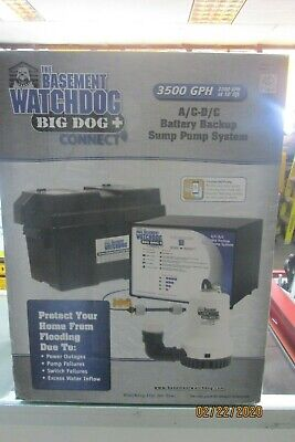 The Basement Watchdog Bwd12-120c Big Dog Ac-dc Battery Backup Sump Pump System
