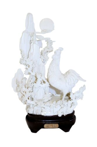 Chinese Carved Rooster Sculpture