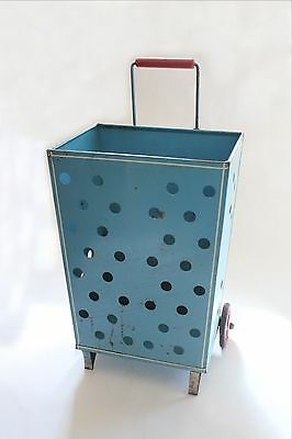 Antique Grocery Cart Caddy Vtg Mid Century Grocery Wheeled Cart Deco Modern