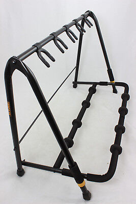 Hercules GS525B Five Piece Guitar Rack Stand Holds 5 Acoustic, Electric or Bass