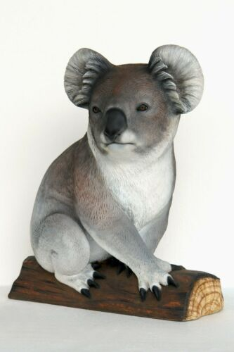 "34"" Life Size Gray Koala Bear Resin Statue Prop Zoo Display"