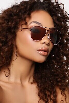 Fashion Nova No Promises Sunglasses Rose Gold Sunnies Sun Glasses UV Protection