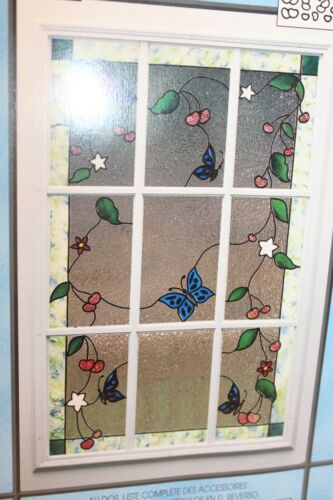 PLAID GALLERY GLASS INSTANT REDI LEAD BUTTERFLIES & BERRIES Stained Glass Kit