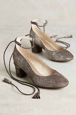 Used, New Anthropologie Liendo Seychelles Pachuca Pump Brown Size 9 Lace Up Tassel for sale  Guilford