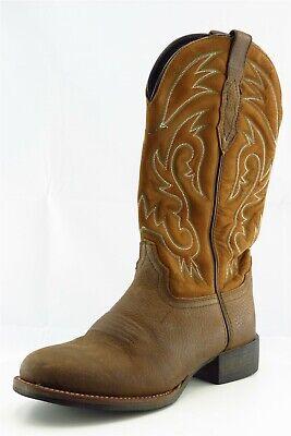 Acme Boots Size 8 D Brown Ccowboy Leather Men