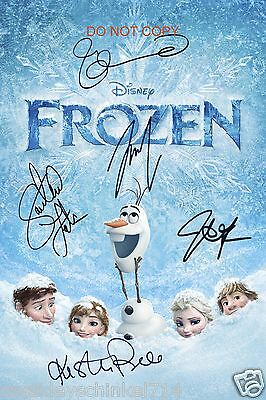 "Frozen Disney Movie 12x18"" reprint Signed Cast Photo #1 RP Elsa & Anna & MORE"