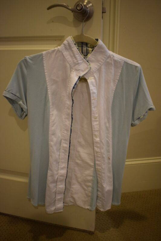 Le Fash Show Shirt Mint Green With Magnetic Collar Medium!