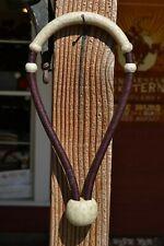 "Jose Ortiz 5//8/"" Latigo Leather /& Natural Rawhide Bosal Traditional Knot 18p"