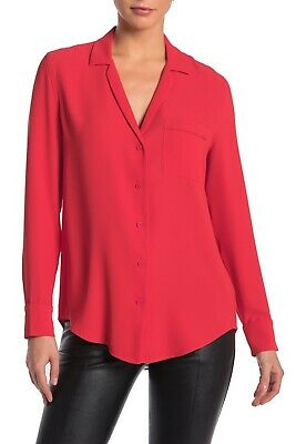 NWOT $230 Equipment Keira Long Sleeve Collared Blouse L