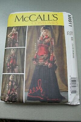 McCall's M6911 Steampunk Saloon Girl Old West Victorian Taille 14 - 22 non coupé