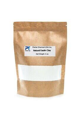 100% Natural ,Pure, White Kaolin Cosmetic Grade Kaolin Clay Fine Powder 4 oz - Fine White Clay