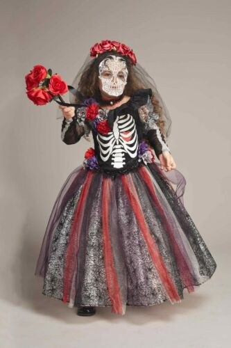NEW Chasing Fireflies Day Of The Dead Catrina Costume Girls Size 8