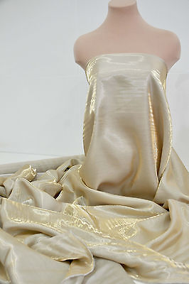 SHIMMER SATIN  FABRIC BLUE/GOLD   1 YD BRIDAL, DRAPERY, FORMAL, COSTUME