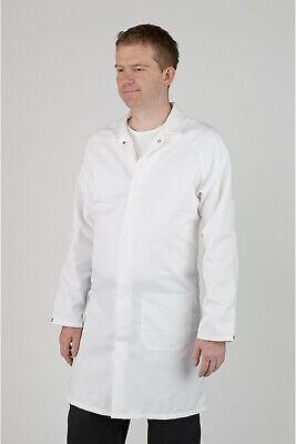 "Men's White Food Trade / Lab Coat – 84cm (33"")"