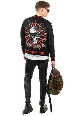 RRP €1815 PHILIPP PLEIN Bomber Jacket Size L LIMITED EDITION Skull & Snake