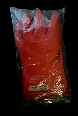 Salisbury North D120 Type 1 Class 00 Red 500 Vac Electrical Gloves - Size 12