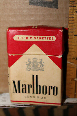 Vintage Marlboro Cigarette Empty Pack Pre Surgeon General Warning Long Size Rare