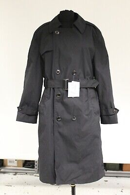 DSCP Black Double Breasted All-Weather Trench Coat, Used, Various (All Weather Trench Coat)