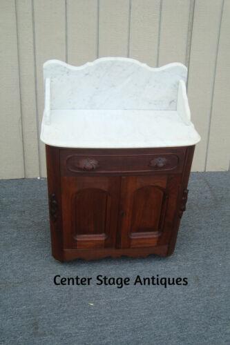 62159 Antique Victorian Marble Top Washstand Dresser Chest