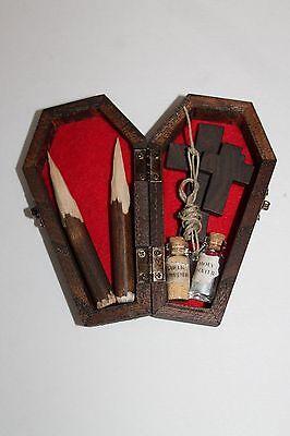 Vampire Killing Slayer Hunter Kit Coffin Halloween Buffy Twilight Handmade Red - Vampire Slayer Halloween