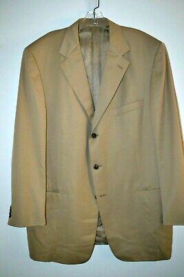 Ermenegildo Zegna Mens Tan 3 Button 100% Wool Sport Coat sz 48 L